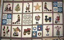 "Here Comes Santa Christmas Northcott FLANNEL Fabric Panels 23""  F3764"