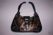 GREAT Small GENUINE LEATHER Metallic HOBO Handbag