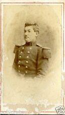 Photo ancienne sur carton format CDV Portrait militaire 19e siècle