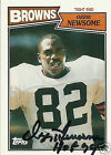 Ozzie Newsome Signed 1987 Topps Cleveland Browns Card - COA - HOF 1999 - Ravens
