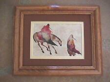 Carol Grigg, CHEROKEE Flight, framed matted