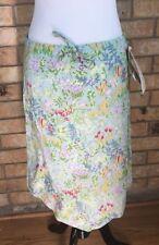 Retro Women's Handkerchief  Skirt Size Medium Floral Tie Waist