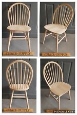 Solid Raw Wood Brand New Windsor Back Farmhouse Kitchen Dining Chair