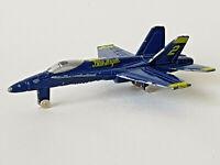 "BLUE ANGELS F-18 HORNET US Navy No A124 Die Cast Metal Aeroplane 3.5"" Jet Plane"