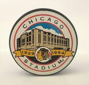 Vintage Chicago Blackhawks Puck Chicago Stadium Memorabilia