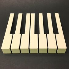 Octave Of 7 German Piano Keytops w/Fronts, 52mm Head, Light Cream