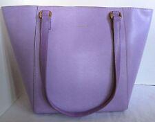 Vera Bradley Women Purse Bag Small Ella Tote LILAC Purple Genuine Leather NEW