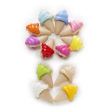 50pcs Ice cream Shank Nylon Buttons Sewing Scrapbooking Clothing Decor 20x13mm