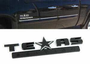 1 x Black Texas Edition Emblem for Fender Hood Bumper Door Pillar Quarter Panel