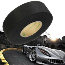 Black Flannel 25mmx15m Car Auto Wiring Harness Adhesive Felt Tape Cable Looms