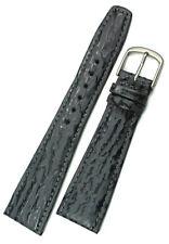 22mm echt HAIFISCH Leder Germany Graf Band Strap HAI grau Uhrband Shark Skin