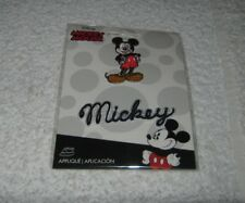 """Wilton- Iron On Patch - Disney - Mickey Mouse and Word """"Mickey"""" - New Package"""