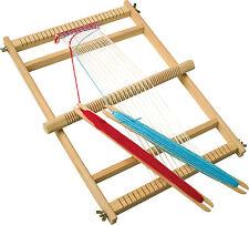 Deluxe in legno Woolen TESSITURA TELAIO Craft Set con navette, Stop Pettine & Lana 7490