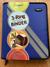 Four New Case It 3 Ring 1 34 Zippered Binders 2 Blue 1 Red Amp 1 Black
