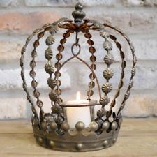 Crown Shape Candle Holder Vintage Metal Tea Light Display Lantern Home Decor New