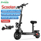 Freego EV 2000W Folding Electric Scooter Dual Motor 48V 20Ah Off-road E-scooter
