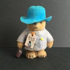 Vintage 1970s PADDINGTON BEAR Miniature Flocked 2.5 inches  - Michael Bond