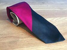DUCHAMP LONDON 100% SILK TIE - PINK BLACK CREAM STRIPED DESIGN