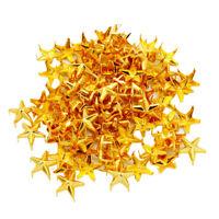 100Pcs Gold Star Metal Rivet Leathercraft DIY Studs Spikes For Bag Clothing