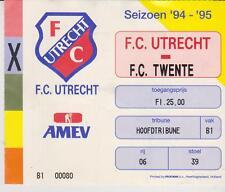 Sammler Used ticket / Entrada FC Utrecht v FC Twente Enschede 12-11-1994