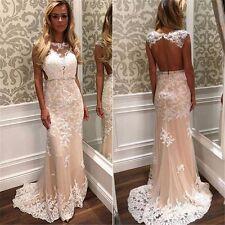 2017 Neu Spitze Applikation Brautkleider Hochzeitskleid Brautjungfer Abendkleid