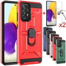 For Samsung Galaxy A52 A32 A12 5G Case Shockproof Stand Cover+Tempered Glass