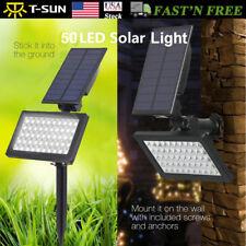 2Pack Solar Power Flood Lamp Spotlight Outdoor 50Led Garden Wall Landscape Light