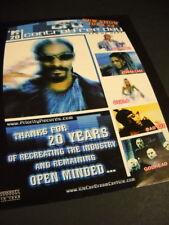 MTV 2001 promo ad SNOOP DOGG Lil Romeo ATHENA CAGE Svala BAD AZZ Godhead mint