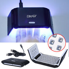 Elite99 LED Lamp Nail Gel Varnish Dryer Manicure Salon USB Cable Portable Timers