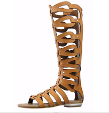 Gladiator Boots Sandals Ladies Flats Knee Length Causal Hollowed Out Sandal Boot