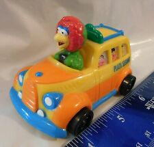 "3.25"" Plaza Sesamo Yellow Orange Bus Henson Abelardo Bird Mexican Rare Toy"