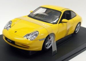 Autoart 1/18 Scale Diecast - 77852 Porsche 911 Coupe Facelift (996) Yellow