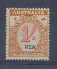AUSTRALIA 1/- One Shilling Tax Instalment Stamp NSW Mint