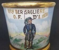 ITALIAN Army Soldier 11th BERSAGLIERE - WWI Era  Occupational Shaving Mug 1920