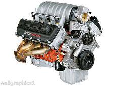 Dodge Challenger SRT8 Engine 392 Hemi Engine Wall Graphic Sticker Vinyl Decal