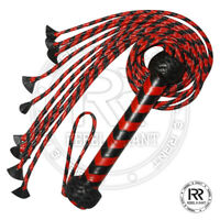Red & Black Braided Flogger Cat O Nine