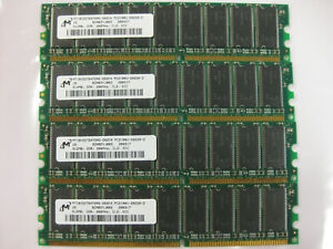 MT18VDDT6472AG-262C4 Micron ECC  RAM 4x512MB DDR 266MHz CL2 BOOT TESTED
