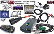 CITROEN PEUGEOT OBD2 EOBD2 Diagnostic Tool Diagbox V8.12 Lexia3 v48 PP2000 v25