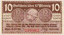 Rare Original Uncirc 1919 Banknote Honoring The Ww1 German Soldier! Steel Helmet