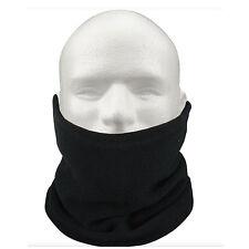 3-IN-1 Fleece Neck Warmer Snood Scarf Hat Unisex Ski Wear - Black LW