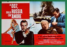 T79 FOTOBUSTA  AGENTE 007 JAMES BOND DALLA RUSSIA CON AMORE CONNERY 2