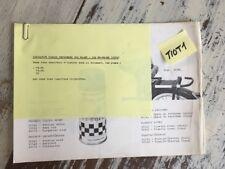 Peugeot 101 MR MT 102 MR MT MS additif 1972 catalogue pièce détachée cyclomoteur