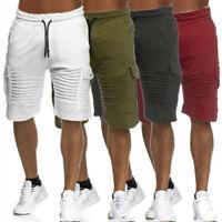 Men Beach Short Pant Gym Drawstring Cargo Shorts  Casual Gym Sports Army Combat