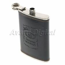 9 oz Liquor Whiskey Alcohol Hip Flasks Wine Stainless Steel Leather Hip Flask