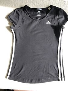 Womens Adidas Climalite Top Size 12 Black