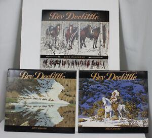 3 Vtg Bev Doolittle Wall Calendars 2001 2002 2003 Unused Art Prints Amcal New