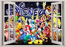 DISNEY MICKEY DONALD CHARACTER WINDOW WALL STICKER 3D BEDROOM GIRLS BOYS 127