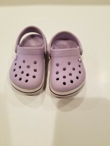 Crocs Toddler Crocband Clog Lavender/ Neon Purple  Size  6