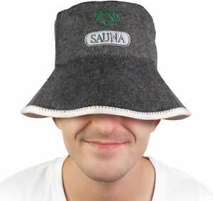 Sauna Hut Saunamütze Saunakappe Filzkappe Kopfbedeckung Sauna Baumwoll Wollfilz