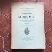 Reggicalze Général Delle Oeuvres Arte Dipartimento La Seine T.2 Set Chaix 1880